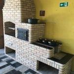 Projeto de churrasqueira com forno e fogão